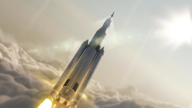 NASA的太空发射系统的艺术概念图。
