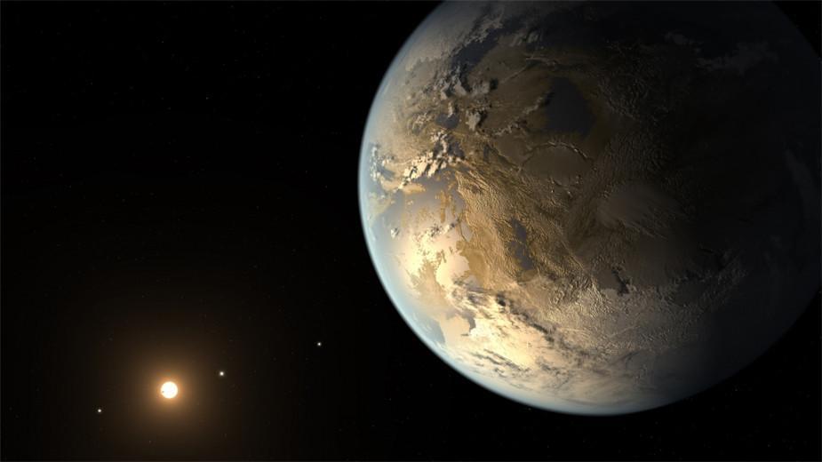 开普勒-186f(Kepler-186f)行星的艺术概念图。这是迄今为止人类寻找到的最像地球的行星,不仅大小与地球相似,而且与所环绕的恒星距离也刚刚好,使其地表