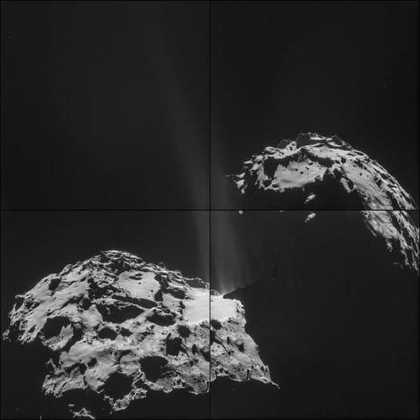 罗塞塔飞船在轨拍摄的67P/丘留莫夫-格拉西缅科彗星