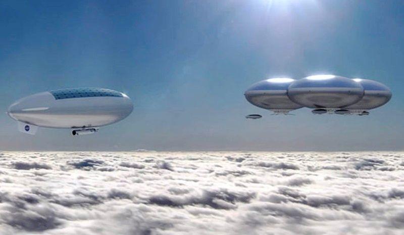 美国宇航局科学家设想利用太阳能驱动的飞艇在金星大气层上方行驶