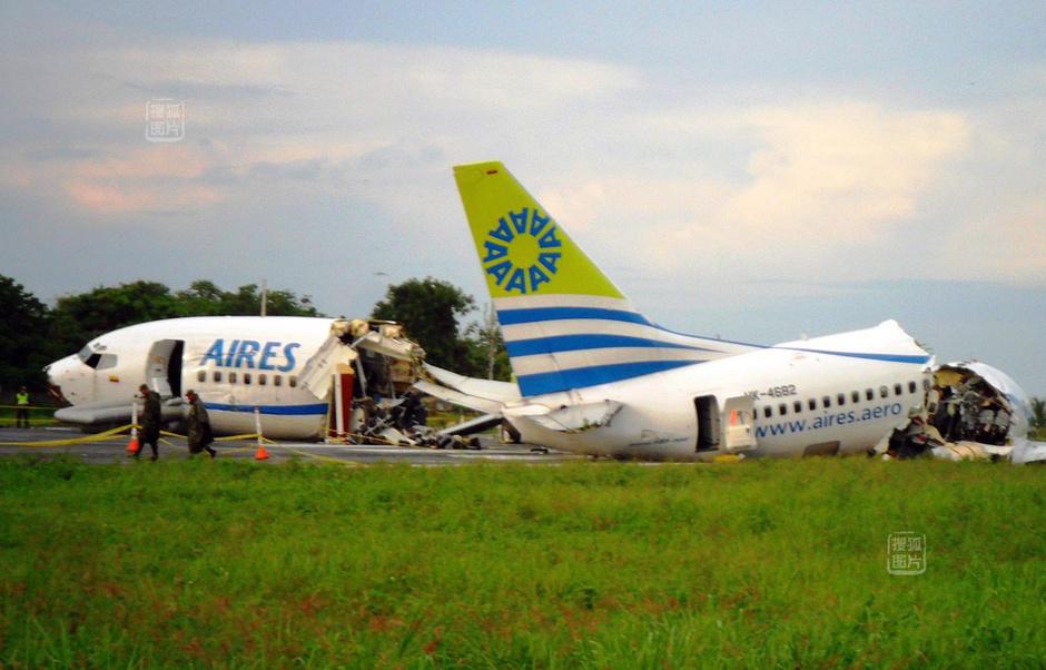 哥伦比亚客机坠毁 一人病发丧生