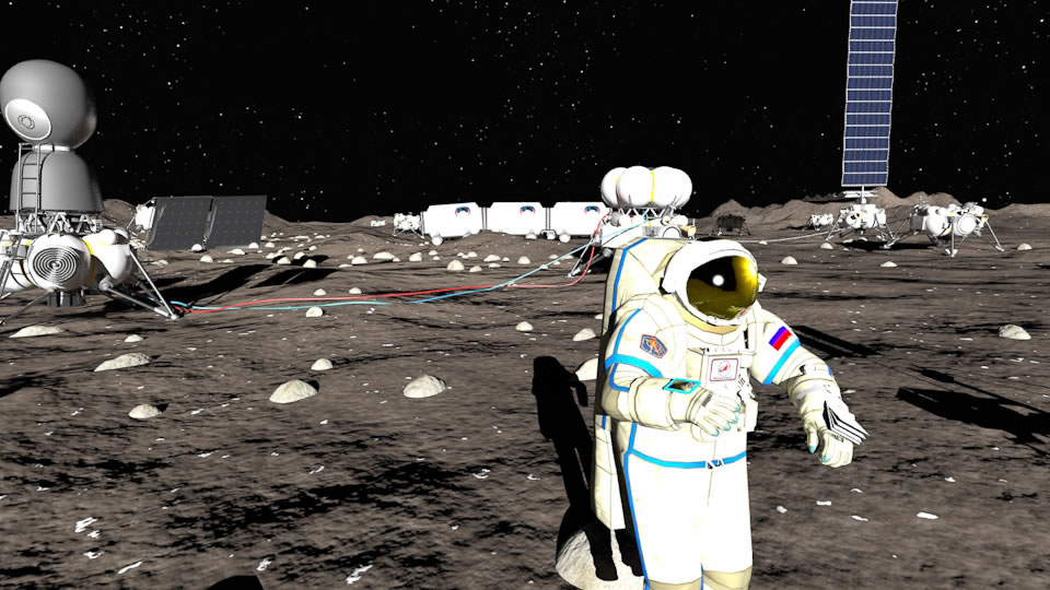 """俄罗斯""""LIN Industrial""""公司宣布于十年内在月球建基地"""