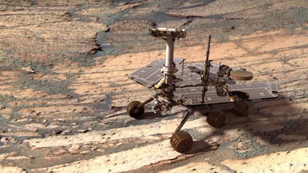 机遇号于2004年登陆火星,至今已行驶超过10年。