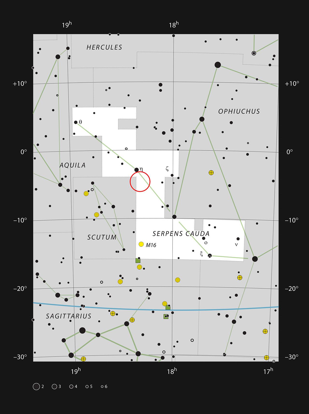 暗星云LDN 483距离地球约700光年,位于巨蛇座。