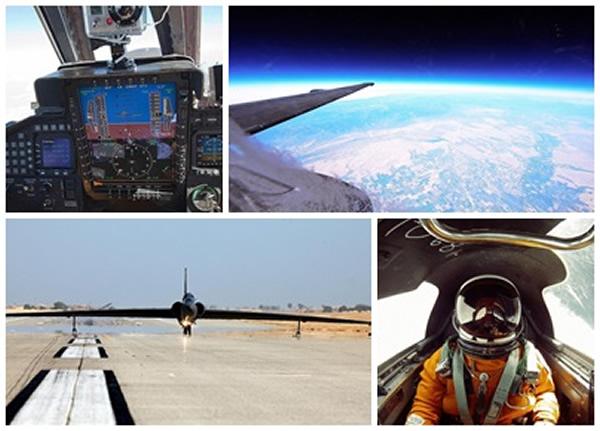 迈克尔有幸登上U-2侦察机,从地球边缘进行拍摄。