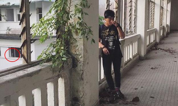 男子在新加坡废弃樟宜医院拍照 左下角窗户惊现神秘白色身影