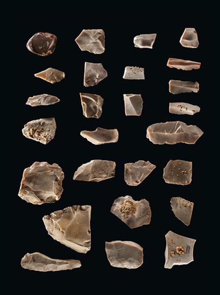 在德州中部一处1万5500年前的营地所发现的石器提供了决定性证据,证明最早的美洲人抵达美洲的时间比考古学者原先所想的早了至少2500年。燧石因为会以薄片状剥落而