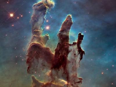 """本周最佳太空图片:哈勃太空望远镜最新拍摄""""创生之柱"""""""