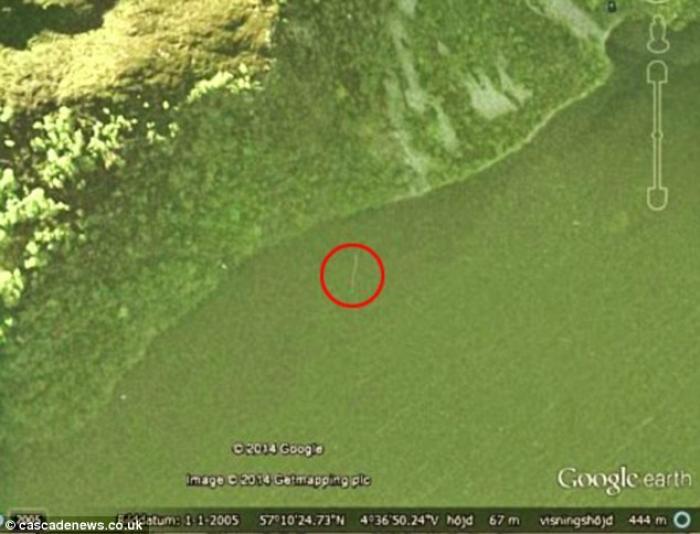 """瑞典男子声称通过谷歌地图发现""""尼斯湖水怪"""""""