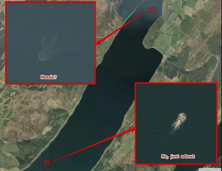 事实表明,在卫星地图上看到的水怪相当一部分是尼斯湖中的游艇,但也有很多是目前无法解释的现象。