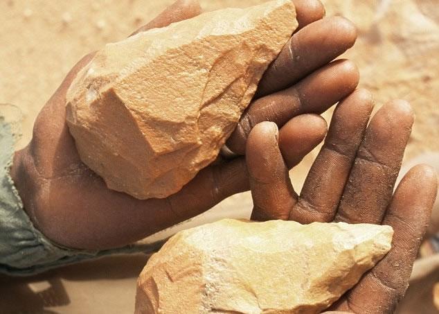 专家推断旧石器时代的原始人,因教授同类自制石器,展开了首段人类对话。