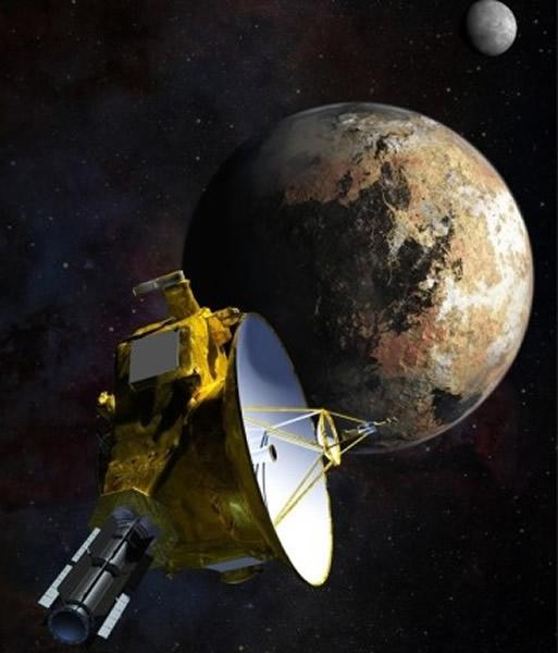 新视野号仍要再飞行逾170日,才抵达最接近冥王星的地点,图为新视野号飞近冥王星的模拟图片。