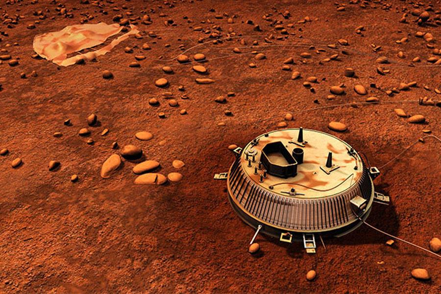 """10年前,欧洲""""惠更斯""""探测器下降到土卫六的大气层,成为有史以来第一个登陆太阳系中外侧轨道天体的人造飞船,土卫六是土星最大的卫星,惠更斯探测器只有72分钟的存活"""