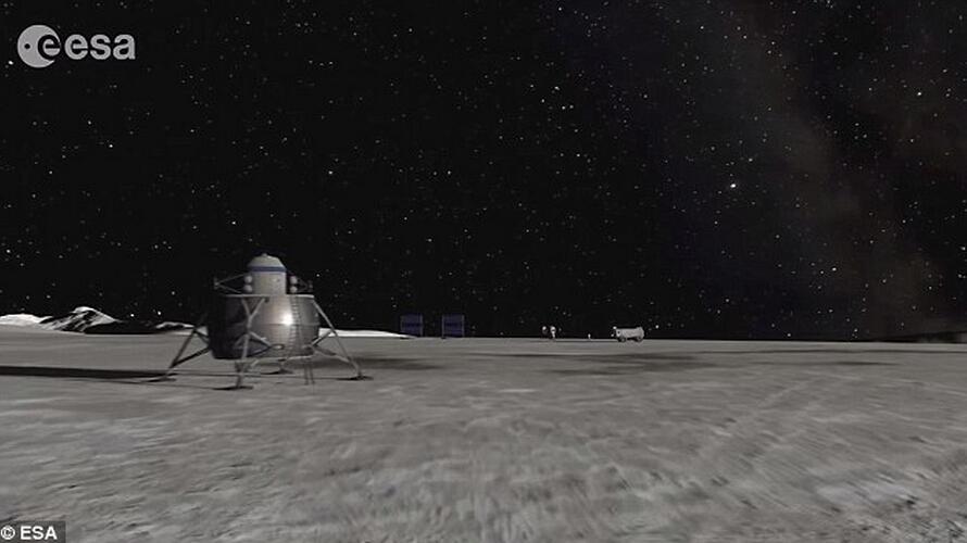 虽然月球部分面积被笼罩在黑暗之中,但是月球南极艾特肯盆地边缘山脉始终沐浴在阳光照射之下。欧洲航天局希望发射机器人探索该区域,甚至计划尝试让宇航员进行探索。