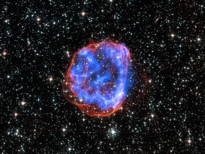 美国宇航局发布大麦哲伦星云中大质量星体爆炸后遗留残骸SNR 0519-69.0