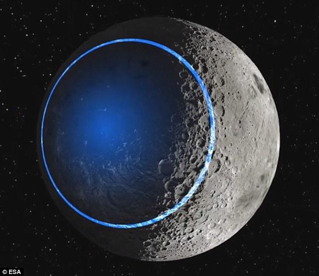 """月球的南极-艾特肯盆地。欧洲航天局计划在月球暗面建造人类居住地。在欧航局看来,征服月球是人类进行深空探索过程中至关重要的一步。在一段名为""""目的地:月球""""的视频中"""