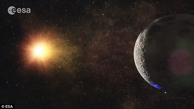 """欧航局在视频中指出:""""未来,月球将成为一个世界各国集聚一堂的所在,了解我们共同的起源,建造一个共同的未来,同时分享一场共同的旅行。"""""""