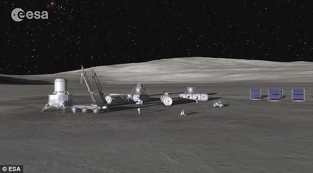 """如果月球上存在大量水,未来的人类居住地可以利用月球水获取氢和氧原子,进而生产火箭燃料。欧航局在视频中指出:""""这些火箭燃料将帮助我们进一步探索太阳系,踏上我们宇宙"""