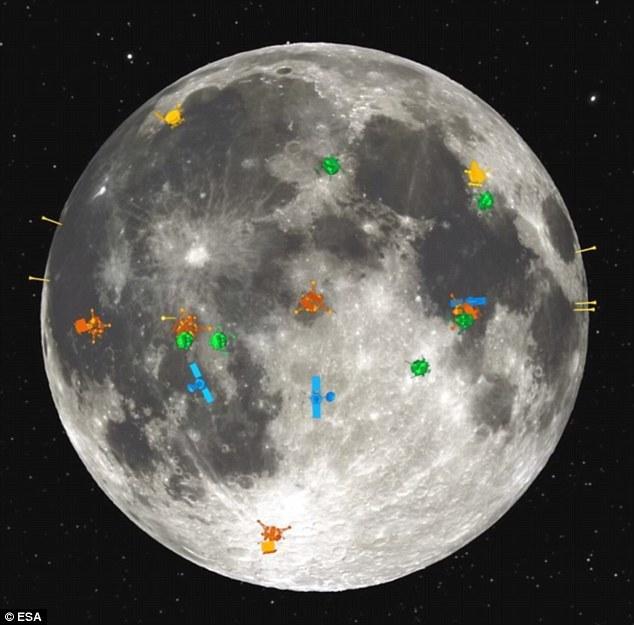 """月球近侧拥有丰富的地貌——例如""""月球上的人""""——对于其中的原因,科学家一直争论不久。""""月球上的人""""实际上是一个暗淡的月海,月球远侧并没有这样的地貌特征。这幅图解"""