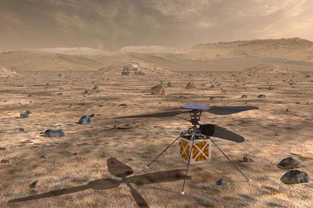 由于火星的大气更加稀薄,因此直升机应该拥有更强劲的升力装置