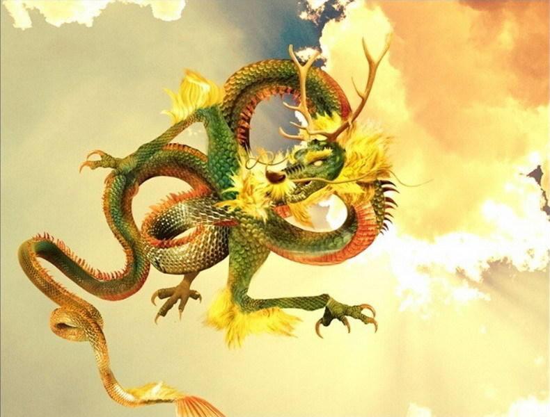 如图所示,这是艺术家精心绘制的中国龙。
