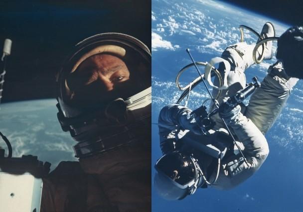 阿尔德林背向地球的自拍照,相当珍贵。