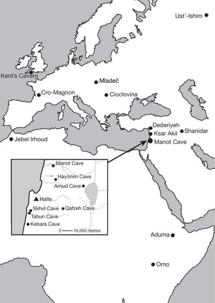 以色列西加利利Manot洞穴中发现距今大约5.5万年前的人类头骨碎片