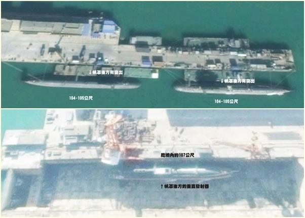 根据Google最新卫星图片显示,辽宁葫芦岛渤海造船厂建造3艘093G核动力潜艇。