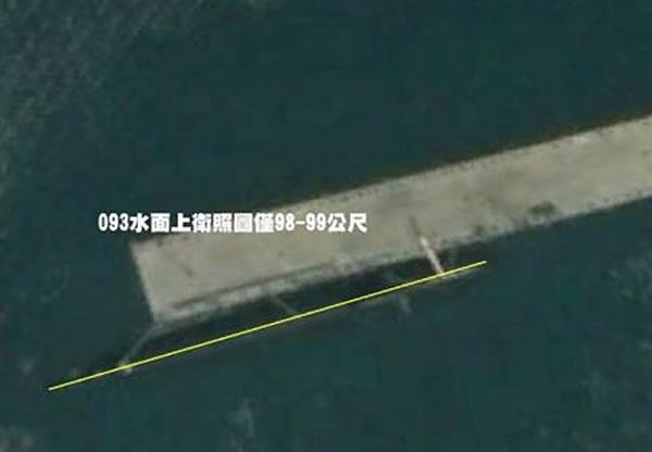图为093G核动力攻击潜艇的水面照。