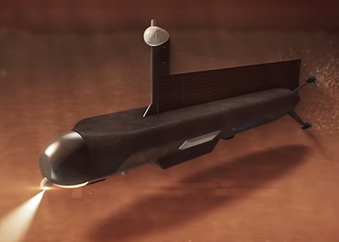 美国NASA公布一个用于探测土卫六液态甲烷/乙烷海洋的潜水机器人设计版本