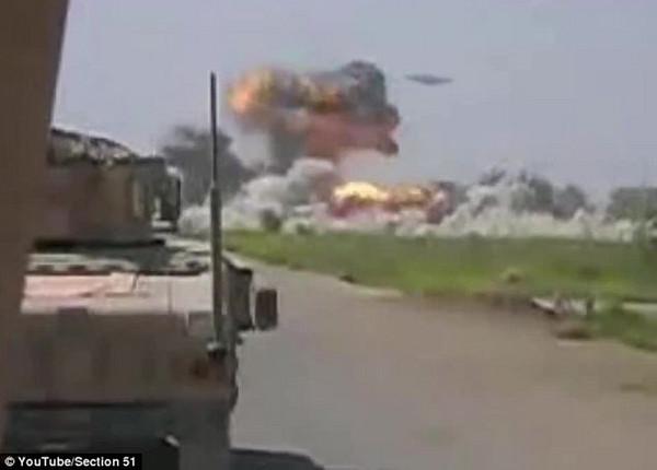 驻阿富汗美军拍到UFO轰炸塔利班基地?