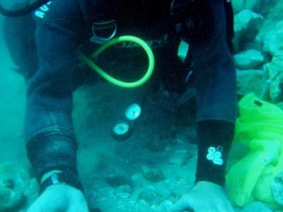 以色列古代海港凯撒利亚的海床意外发现一批千年前的古代金币