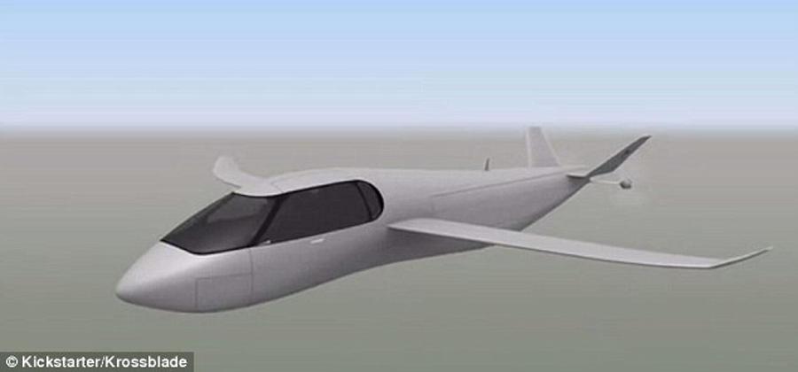 SkyProwler飞行器能够进行多种技术验证,图中这款飞行器也是一种旋翼与固定翼结合的模式,在起飞之后能够将旋翼结构收入机身内部,提高飞行速度。尾部拥有两个推