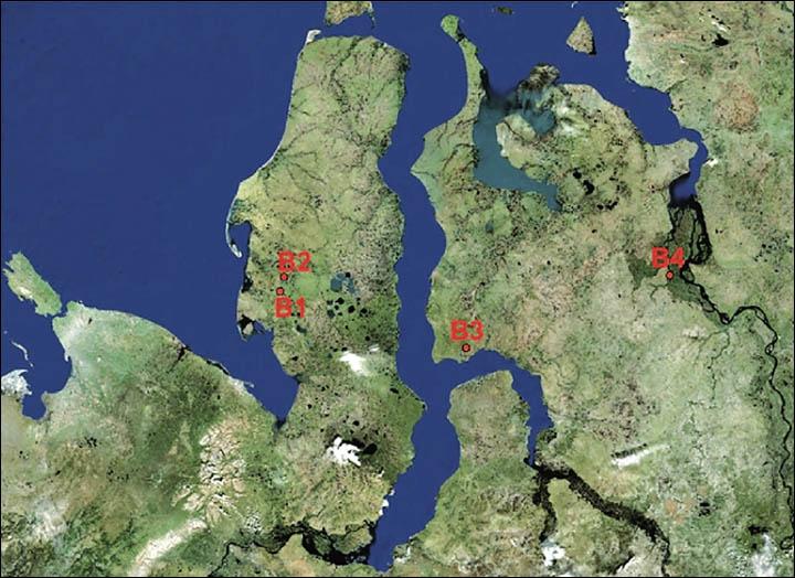 """水下古城_""""世界尽头""""之称的俄罗斯亚马尔半岛再现4个巨型神秘天坑"""