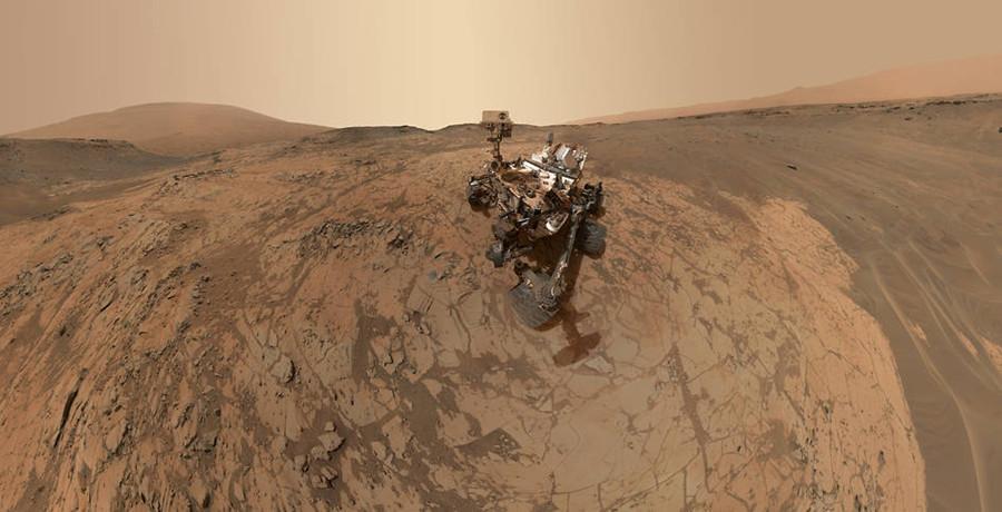 """""""好奇号""""火星车的最新""""自拍照"""""""