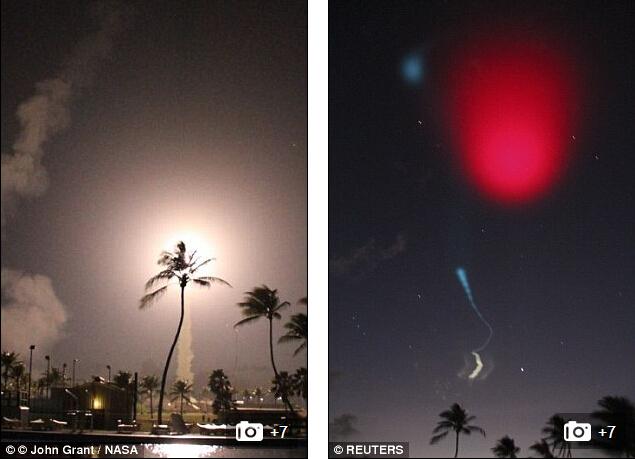 就在去年,在太平洋上的马绍尔群岛上空也开展过一次类似的试验。在火箭进入太空之后,研究人员便会仔细跟踪它扩散开的水汽云团运动情况。电离层是地球外层大气的组成部分,