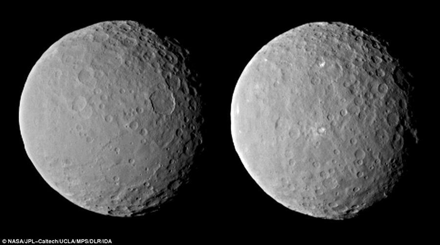 按照任务时间表,4月10日位于加州的科学家们会接收到比哈勃望远镜图像清晰9.6倍谷神星表面照片,黎明号距离谷神星表面大约1.4万英里,即2.2万公里,我们能够分