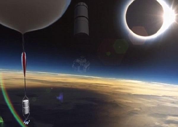 气球将摄录机送上平流层后,有望为地面民众直击日全食。
