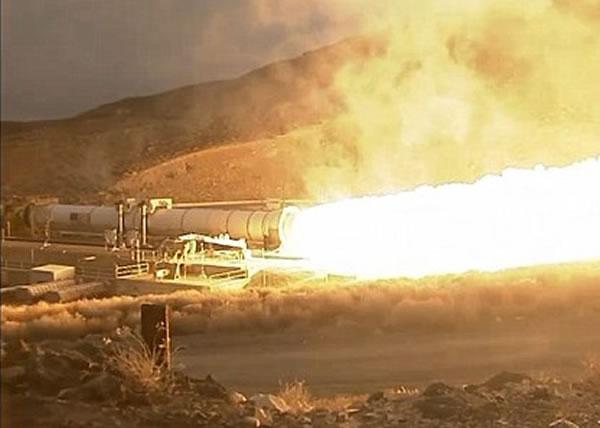 测试过程历时仅126秒,冒出大量火焰。