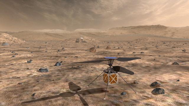美国宇航局的喷气推进实验室正在研发一直小型无人直升机,用于未来火星探测器的导航。