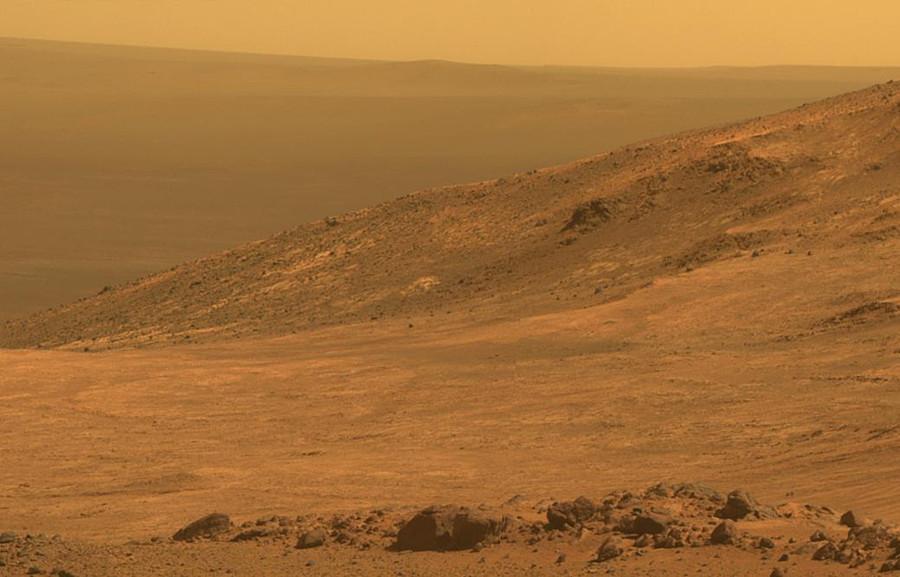"""""""机遇号""""火星探测器拍摄到的火星""""Marathon Valley""""地区画面"""