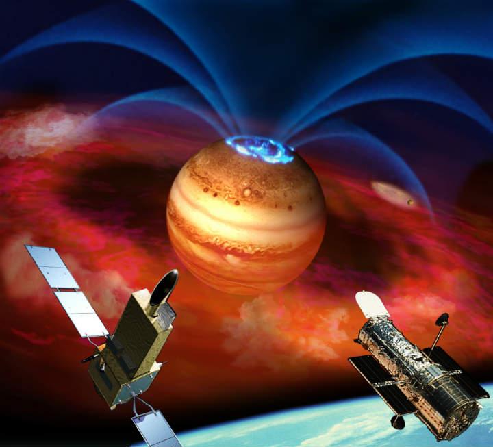 日本天文学家在木星表面观测到持续发光的极光
