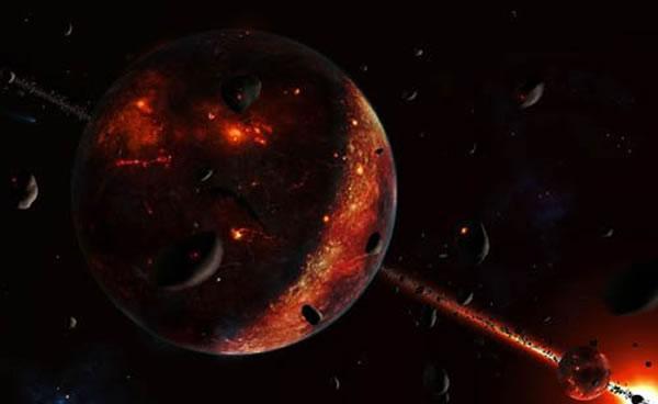 地球诞生的初期是一颗炽热星球