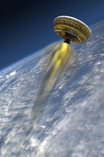 低密度超音速减速器首次试飞于2014年,今年6月还将进行测试,该装置能将大型载荷安全送达火星表面