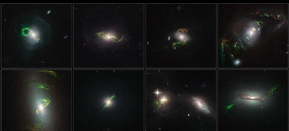 哈勃望远镜共拍摄到8张图片