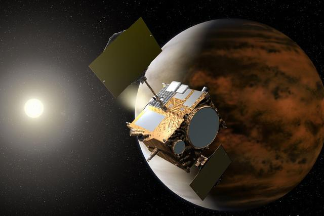 """""""拂晓""""号探测器在2010年时因为主发动机故障错失进入金星轨道的良机"""