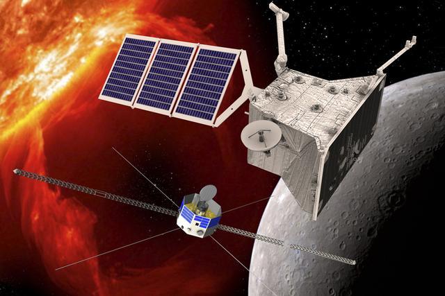 BepiColombo任务在20世纪90年代就已经提出,这是欧洲最庞大的水星谈说计划,由日本和欧洲联合实施。