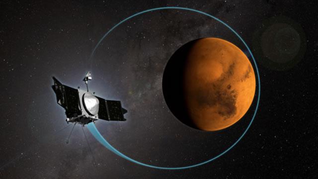 美国NASA的MAVEN探测器绕行火星运转满1000圈