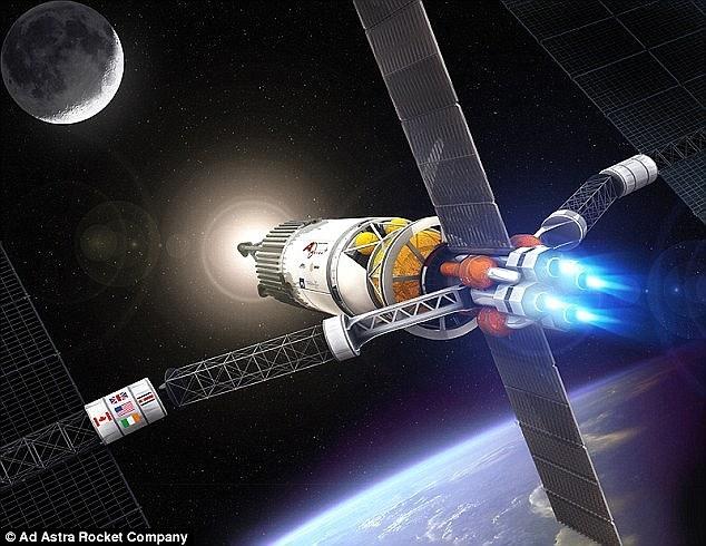 上周,美国宇航局选中了几家公司,负责研发先进的太空探索技术,其中包括速度更快的推进系统。图片展示了德克萨斯州公司Ad Astra研制的发动机Vasimr,可让飞