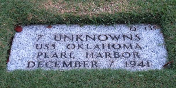 俄克拉何马号的无名军人墓